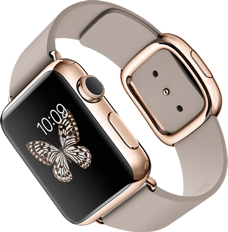 montre apple en or